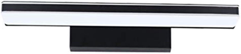 Led-Spiegel Vorne Licht, Wasserdicht Beschlagfrei Moderne, Minimalistische Badezimmer Badezimmer Lampe Im Europischen Stil Make-Up Lampe Wandleuchte (Farbe  Schwarz, Gre  Lang 45 Cm)