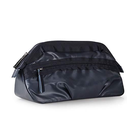 Sac de Lavage Souple de Grande capacité de Voyage en Plein air Sports Fitness Wash Cosmetic Bag Women Men Waterproof Shower Organizer (Color : Black)