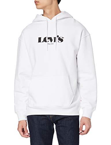 Levi's T2 Relaxed Graphic Maillot de survêtement, Mv Logo Po Blanc, M Homme