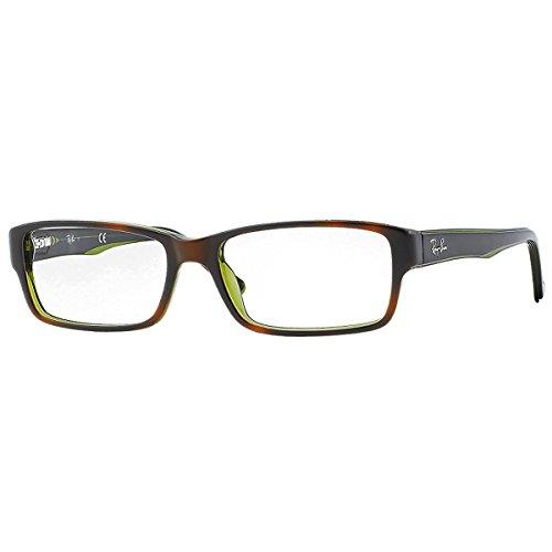 Ray-Ban  RX5169 2383 54-16 Rayban RX5169 2383 54-16 Rechteckig  Brillengestelle 54, Schwarz