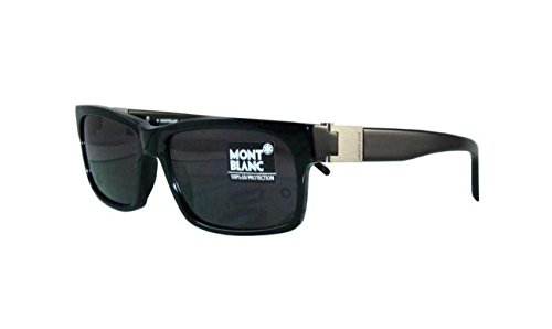 MONT BLANC MB 215 B5 - Gafas de sol, color negro y gris