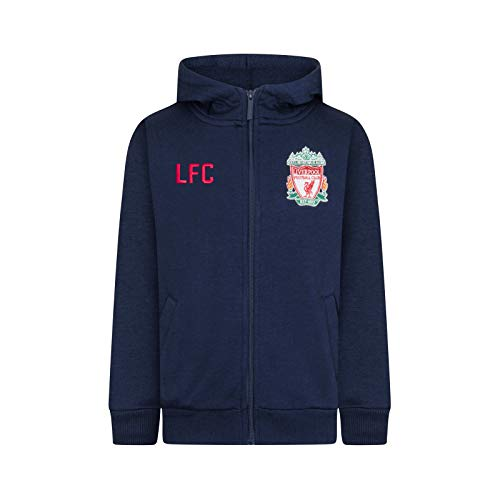 Liverpool FC - Herren Fleece-Sweatjacke - Offizielles Merchandise - Geschenk für Fußballfans - L