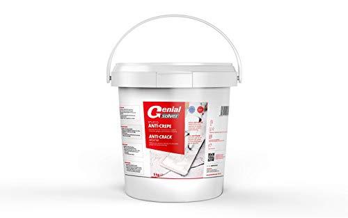 Genial Solver STUCCO ANTI-CREPE, Stucco Riempitivo e Riparatore per pavimenti, 5 kg