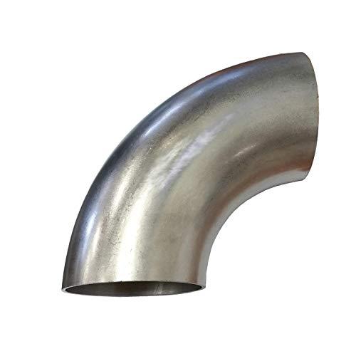 90 Grad Edelstahl Bogen 80 x 1,5 mm kurz V2A Rohrbogen Schweißbogen Abgasbogen