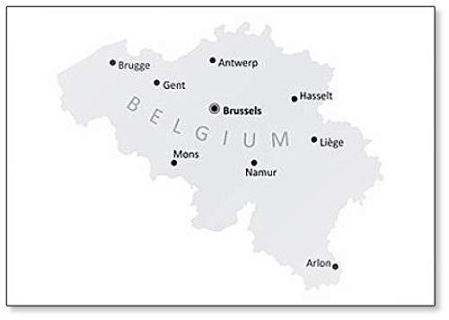 België Steden Kaart Koelkast Magneet