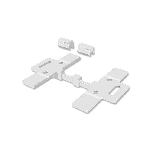 INTERDECO Deckenträger/Deckenclips für Gardinenschiene 3- u. 4-läufig Slimline (2 Stück)