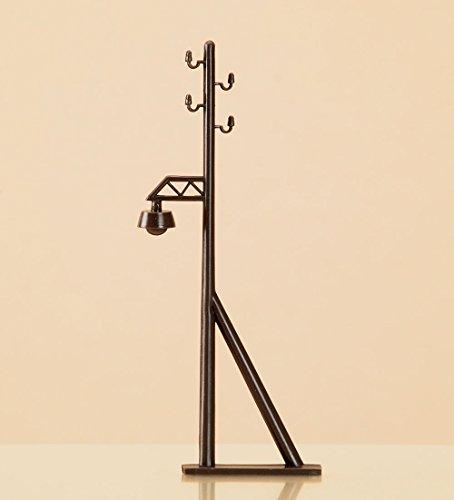 Auhagen 42632.0 - Freileitungsmasten mit Lampenattrappe, Höhe 80 mm, bunt