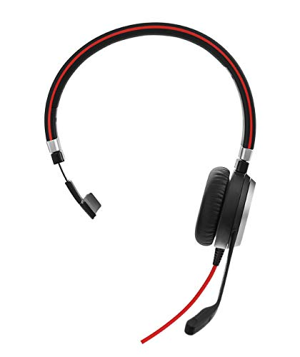 Jabra Evolve 40 Mono-Headset mit 3,5-mm- Klinkenstecker (ohne USB-Controller), optimiert für Unified Communications