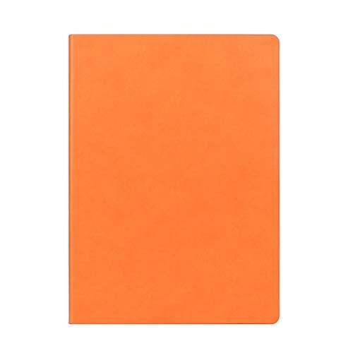 hsj Cuaderno ordenado simple grueso y exquisito cuaderno de estudio, bloc de notas de oficina ordenado (color: naranja, tamaño: 21 x 29,7 cm)