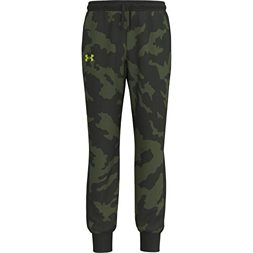 Under Armour Boys' Fury Jogger, Baroque Green (310)/Yellow, Youth X-Large