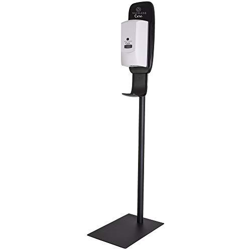 Ikra Touchless Care 2in1 Desinfektionsmittelständer & Seifenspender Sensor berührungslos, inkl. Wandmontage-Set & Ständer, 152cm