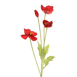 Accessories Home Decoration Wedding Holiday Simulation Poppy Beautiful Bouquet Artificial Poppy Artificial Flower(Wine red)