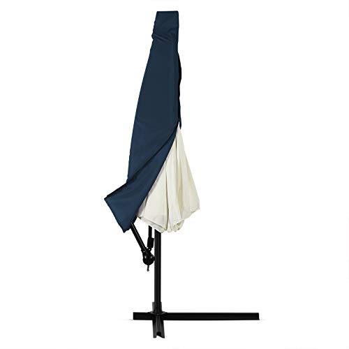 Deuba Schutzhülle Sonnenschirm für 3,5m Schirme Schirm Abdeckhaube Abdeckung Hülle Plane Ampelschirm Blau