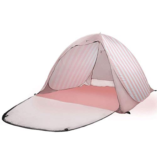 CttiuliZpe Tent, Pop Up Beach Tent Sun Shelter Beach Shade Portable Tent with UPF 50+ for Outdoor Activities Beach Traveling Sun Shade Shelter,Outdoor Tents for Backyard, (Color : Pink)