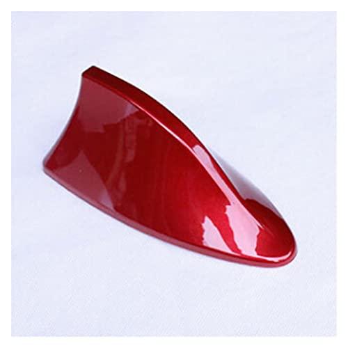 Lhtyouting Antena de Aleta de Tiburones de Antena de Radio Universal para Peugeot 206 207 208 301 307 308 407 2008 3008 4008 hnlyt (Color : Red)