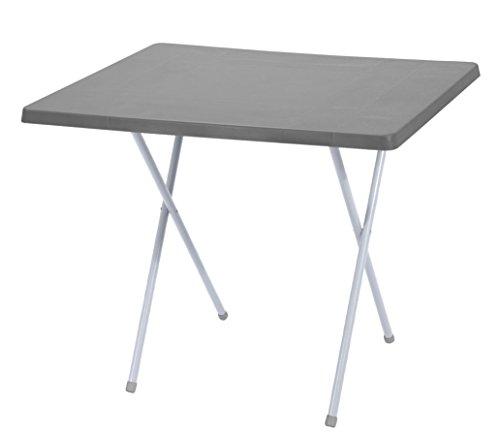 Spetebo campingtafel inklapbaar en in hoogte verstelbaar in 2 maten - kleur: grijs - 79cm x 60cm x 50-62 cm