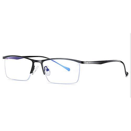 xzczxc Men Business Blue Light Blocking Glasses Computer Gaming Eyewear Uv400 Blackclear