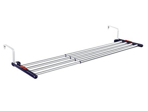 Leifheit Hängetrockner Quartett 42 Extendable Aluminium variabler Wandwäschetrockner, ausziehbarer Wandtrockner für den Innen- und Außenbereich