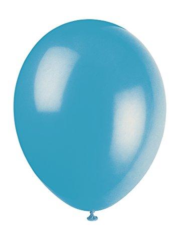 Unique Party-80009 Globos de Látex de 30 cm, Color Azul (Turquesa), Pack de 10 (80009)