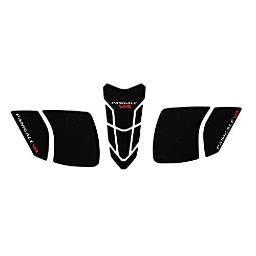 para D-UCATI Panigale V4 V4S 2018-2020 Almohadilla De Tanque De Aceite para Motocicleta Calcomanías Almohadilla De Agarre De Rodilla De Gas Lateral