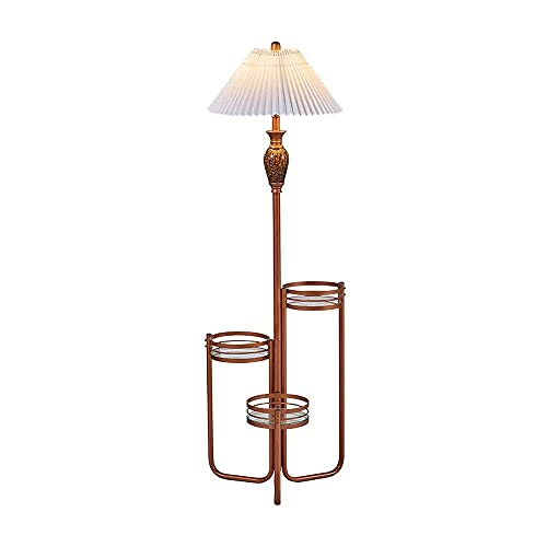 Lámpara de pie con estantes Lámpara de pie Moderna con Estante, la lámpara de pie es Adecuada para el Dormitorio y la Sala de Estar IKEA Storage Standing Lam (decoración del hogar)