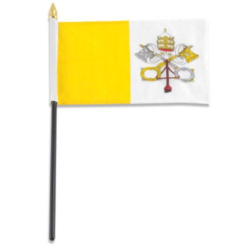 US Flag Store Vatican City Flag, 4 by 6-Inch