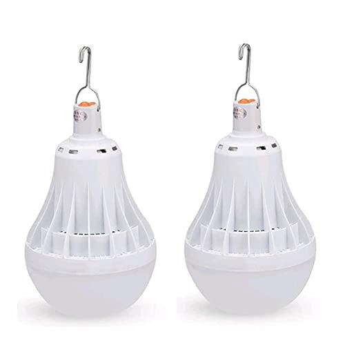 SHKUU 2Pack40W Lámpara Emergencia Bombilla LED para Acampar para Lectura al Aire Libre Camping Senderismo Pesca