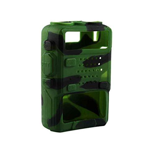 Gankmachine 5 Colors Silicone Soft Walkie Talkie Protective Case Cover for Baofeng UV-5R/UV-5RA/UV-5R Plus/UV-5RE/UV-5RC/F8+, Grün