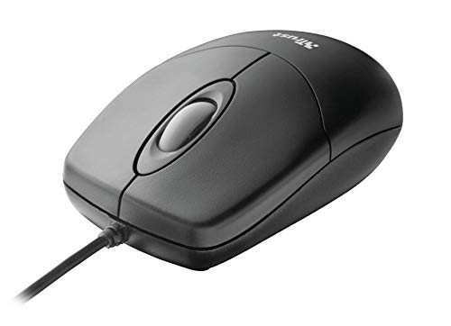 Trust Optical Mouse - Mini ratón óptico con Cable, Negro