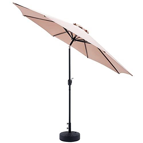 ombrellone da giardino manovella VONLUCE Ombrellone da Giardino 300 CM Protettivo UV Ombrellone da Spiaggia Impermeabile