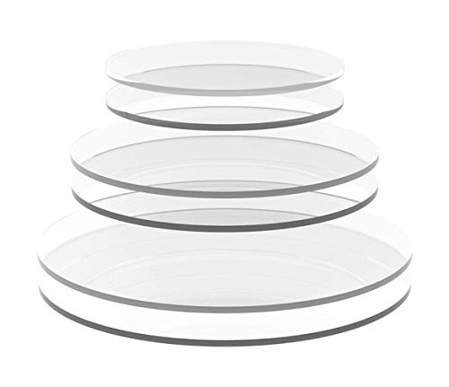 uVeans Clear Acrylic Circle - Plastic Round Disc - Acrylic Round Sheet, 3 Inch Diameter, 1/16 Inch Thick, 2 pcs
