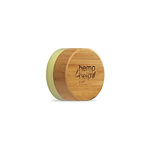 Hemp4Help 100 Prozent Natürlicher feuchtigkeitsspendender Lippenbalsam,Bio Hanf und Kakaobutter, Olive Oil, Natural Bienenwachs mit Vitamin E und Pfefferminzöl, 1 Dose, Plastikfrei, Natural SPF 10