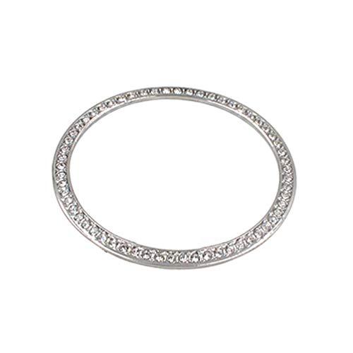NICERIO Kompatibel für Samsung Galaxy Watch 42mm Lünette Uhr Diamantmontierte Lünette Ring Klebende Abdeckung Kratzschutz Abdeckung