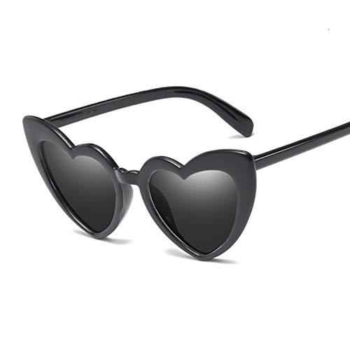 UKKD Gafas De Sol Para Mujer Gafas De Sol De Corazón Mujeres De La Marca Diseñador De Gato Gafas De Sol Gafas De Sol Femenino Retro Amor En Forma De Corazón Gafas Para Mujer Compras Uv400