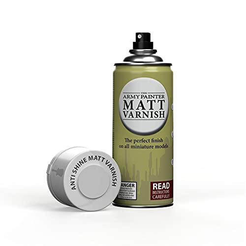 The Army Painter Colour Primer, Matt Varnish 400 ml Grundierung Spray, Primer Spray, Acryllack Spray für Fantasy Model Miniaturen Bemalen und Warhammer Figuren