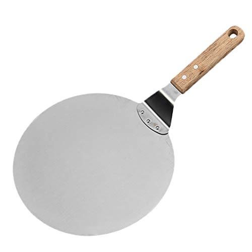jieGorge Pizzaschaufeln, Pizzapaddel, 10-Zoll-Klinge aus rostfreiem Stahl, Qualitäts-Pizzaspatel für den Ofen, Küche , ESS- und Barverkauf (Silber)