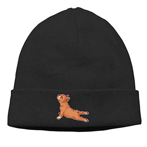 French Bulldog Unisex Skull Beanie Cap - Cuff Knitted Hat - Daily Warm Slouchy Hats