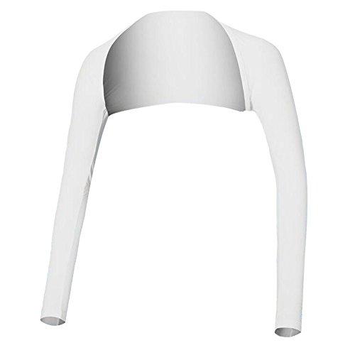 Hairwilly UV-Schutz-Bolero, schützt die Arme vor Sonneneinstrahlung bei sportlicher Betätigung im Freien, kühlende Wirkung, atmungsaktiv, hoher, für Damen M weiß