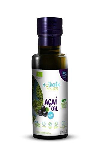 Biologische Acai-olie 100 ML. 100% acai. Veganistisch en glutenvrij. Gemaakt met acai bes [açaí-bes]. Geen toegevoegde chemicaliën of conserveermiddelen