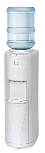 Vitapur Top Load Floor Standing Room Cold Water Dispenser with Piano Push Buttons, White