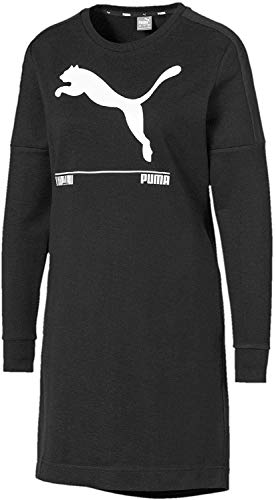 PUMA Damen Nu-tility Dress Kleid, Black, L