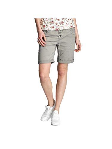Urban Surface Damen Stoff Bermuda Shorts aus Stretch-Twill Light-Grey L