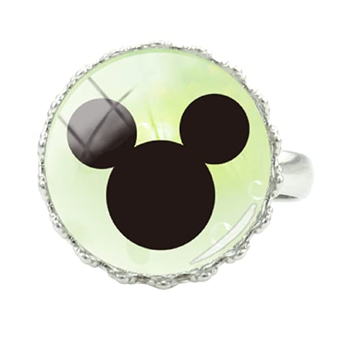 Disney Glas-Cabochon Ring Mickey Minnie Multi Roll Acting Art Picture Ring Ms. Mickey Mouse Herren Souvenir