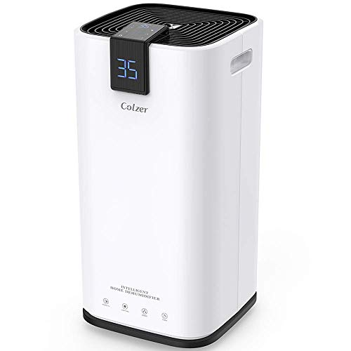 COLZER 30 Pints Portable Dehumidifier, Large Capacity, Compact Dehumidifier for Home, Bathroom, Kitchen, Bedroom, for Spaces Up to 1500 Sq Ft, Continuous Drain Hose Outlet (30 Pint)