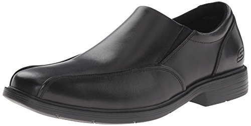 Skechers mens Caswell Noren Slip On Loafer, Black, 14 US