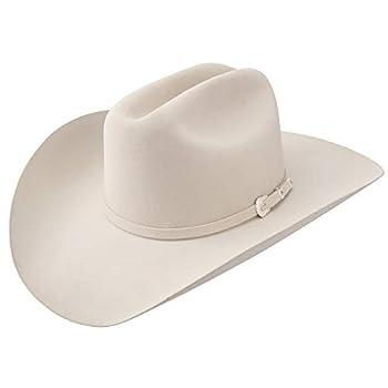 Stetson Brenham 4X Felt San Angelo Collection Cowboy Hat Ivory 4  Brim  7 3/8