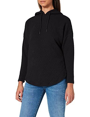 Urban Classics Ladies Quilt Oversize Hoody Sudadera, Negro (Black 7), S para Mujer