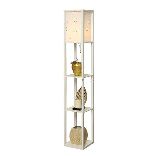 Étagère lampadaire Salon Chambre Chevet canapé Blanc Debout Lampe