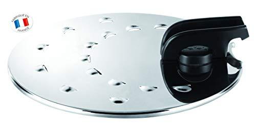 Tefal L9939822 Tapa INOX Ajustable, diámetro 30 cm, Acero Inoxidable, Plata