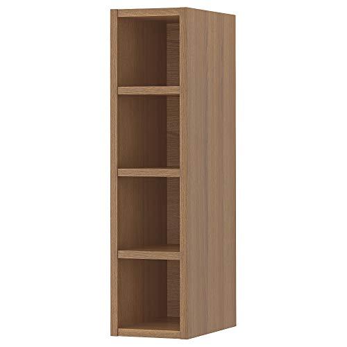 VADHOLMA almacenamiento abierto 20x37x80 cm marrón/ceniza manchada